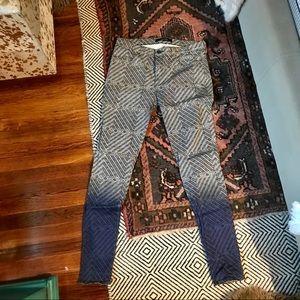 J Brand Ombré printed skinny jeans